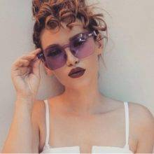Hollywood Rimless Oversized Sunglasses