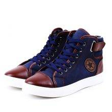 Lace-Up Ankle Men Flat Sneakers Shoe