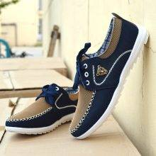 Flats Canvas Lacing Breathable Men's Shoes
