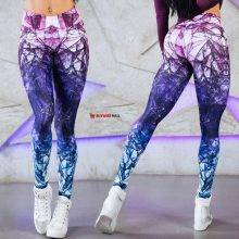 Mandala leggings Purple Cube Magic Print Leggings
