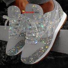 Bling Wedges Chunky Sneakers
