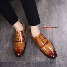Crocodile Oxford Pattern Zapatos Leather Shoes